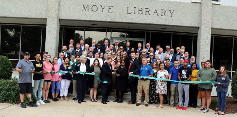 Ribbon Cut for UMO's New Centralized Learning Commons at Moye Library