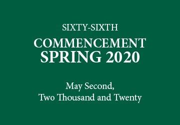 May 2020 Graduation