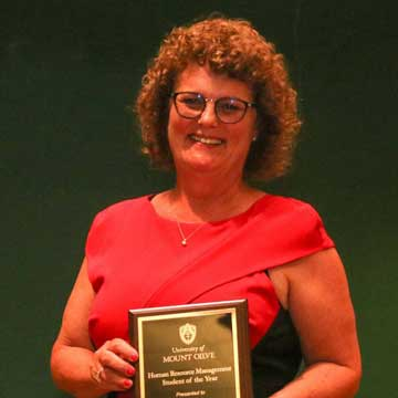 Carteret County Student Receives Award at the University of Mount Olive
