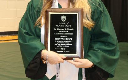Emily Woodward Receives Morris Award for Academic Excellence at UMO