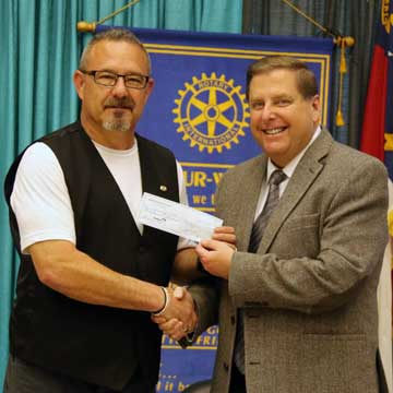 Rotary Club Presents Check to UMO