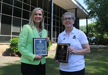 Bullard-Maxwell and Cates Receive Morris Award for Excellence in Teaching at UMO