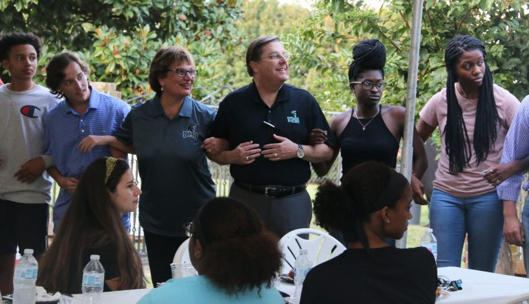 UMO's Newest Students Dine with the President and First Lady